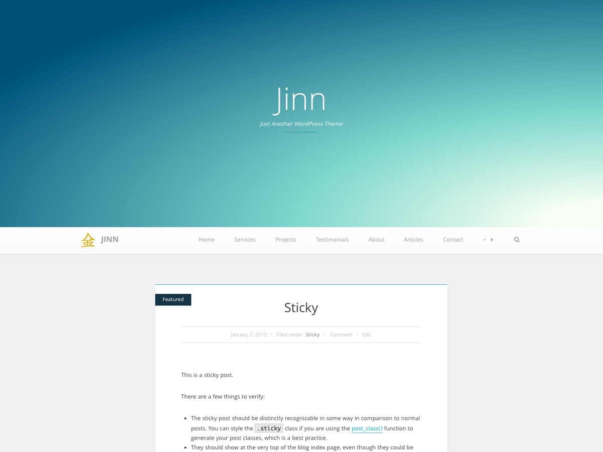 Jinn free WP theme