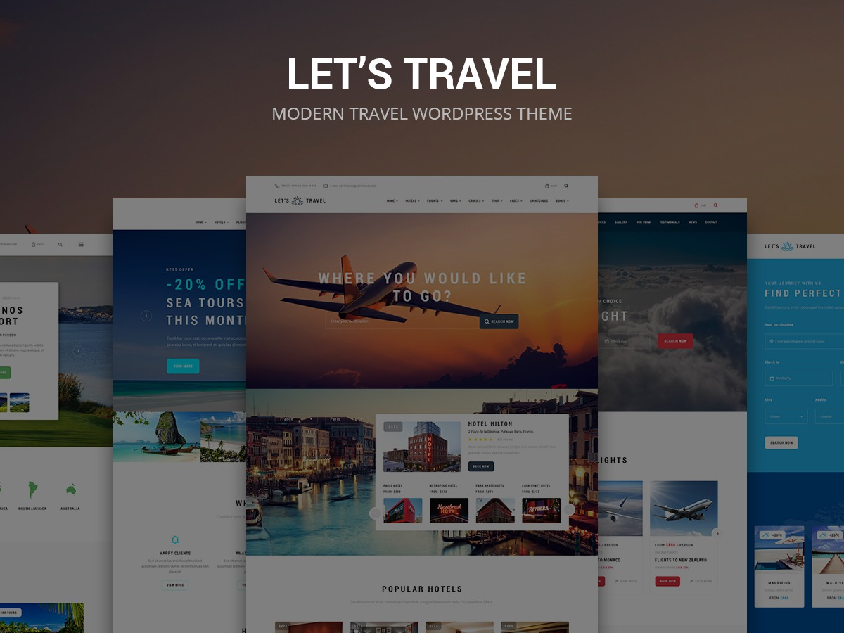 LetsTravel WordPress travel theme