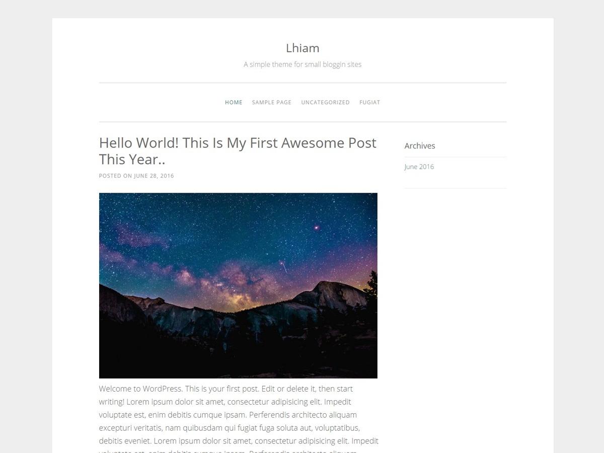 lhiam WordPress template free
