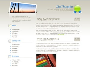 LiteThoughts WordPress theme design