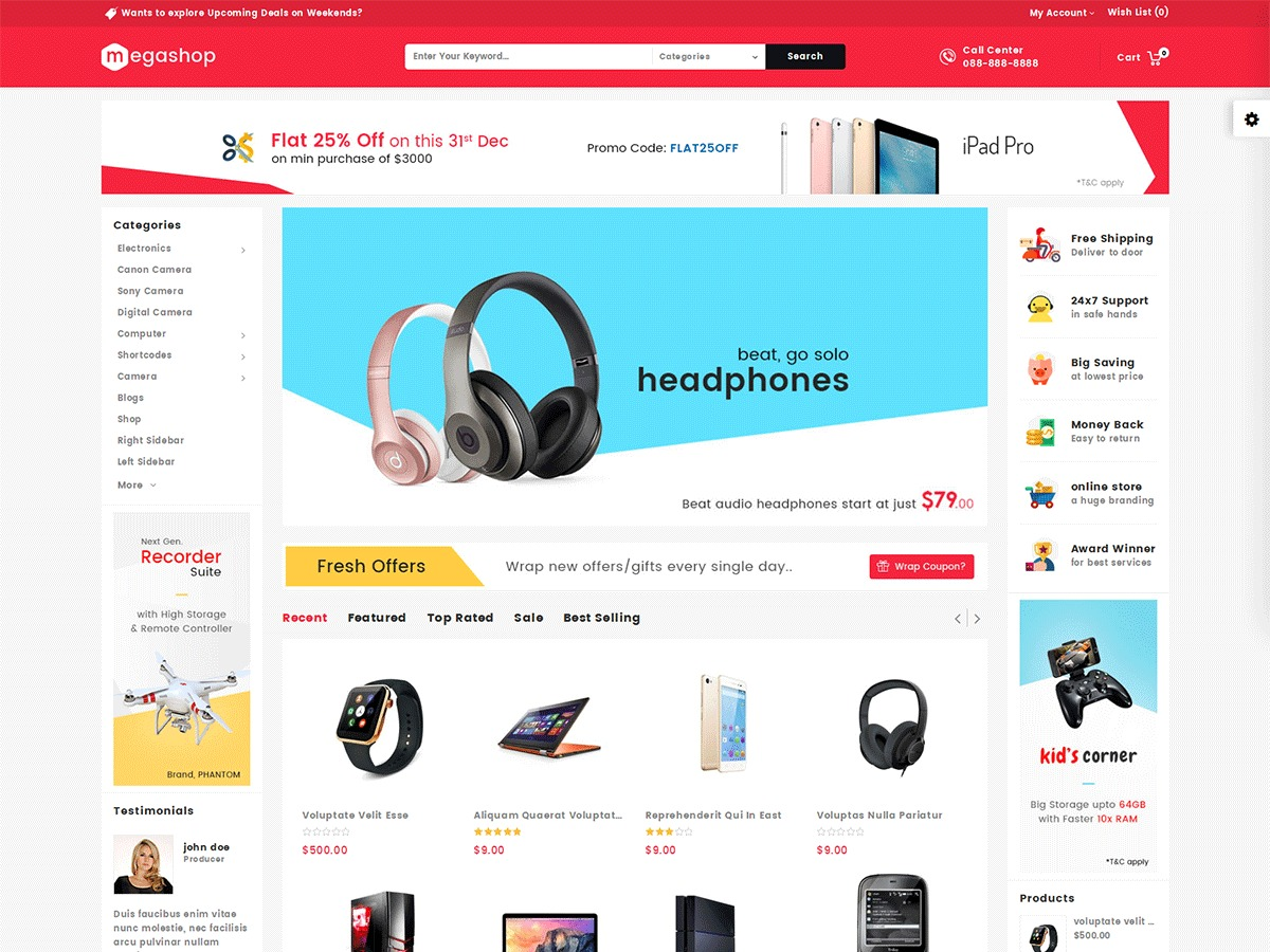 megashop best WooCommerce theme