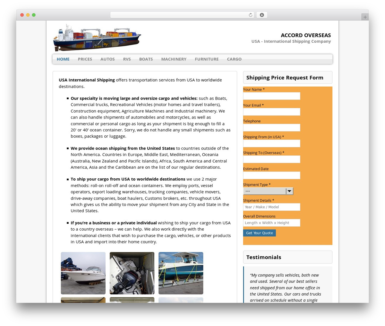 MH Corporate basic best free WordPress theme - usainternationalshipping.com