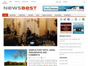 NewsBest WordPress news template