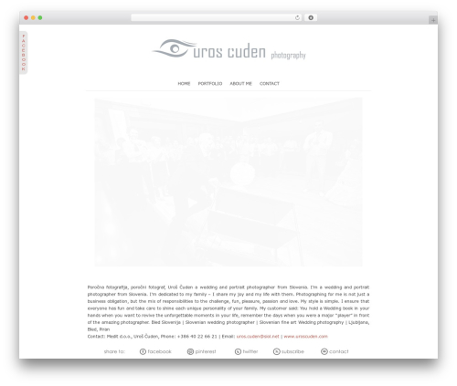ProPhoto WordPress theme - uroscuden.com