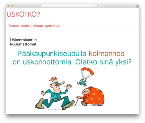 Responsive free website theme - uskotko.fi
