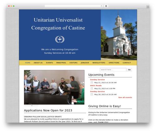 Responsive free WordPress theme - uucastine.org