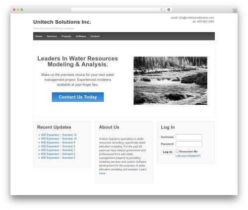 Responsive free WP theme - unitechsolutionsinc.com