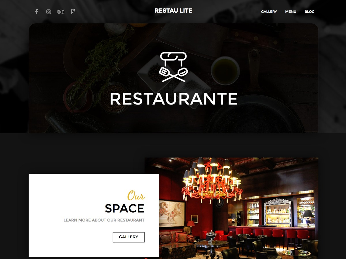 Restau Lite WordPress shopping theme