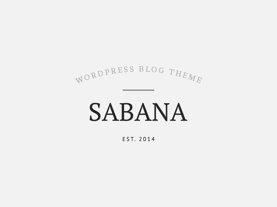 Sabana WordPress blog theme