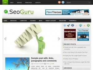 SeoGuru WordPress website template