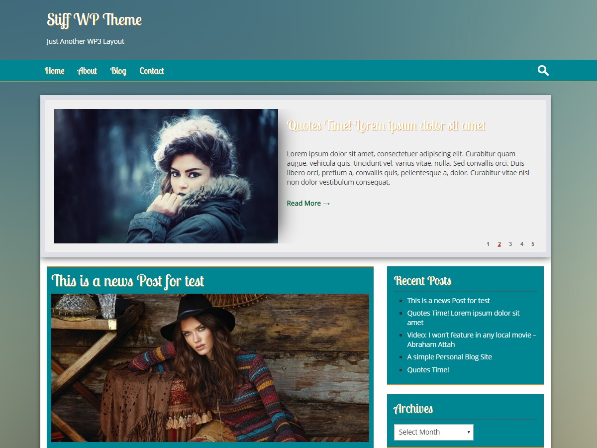 Stiff free WordPress theme