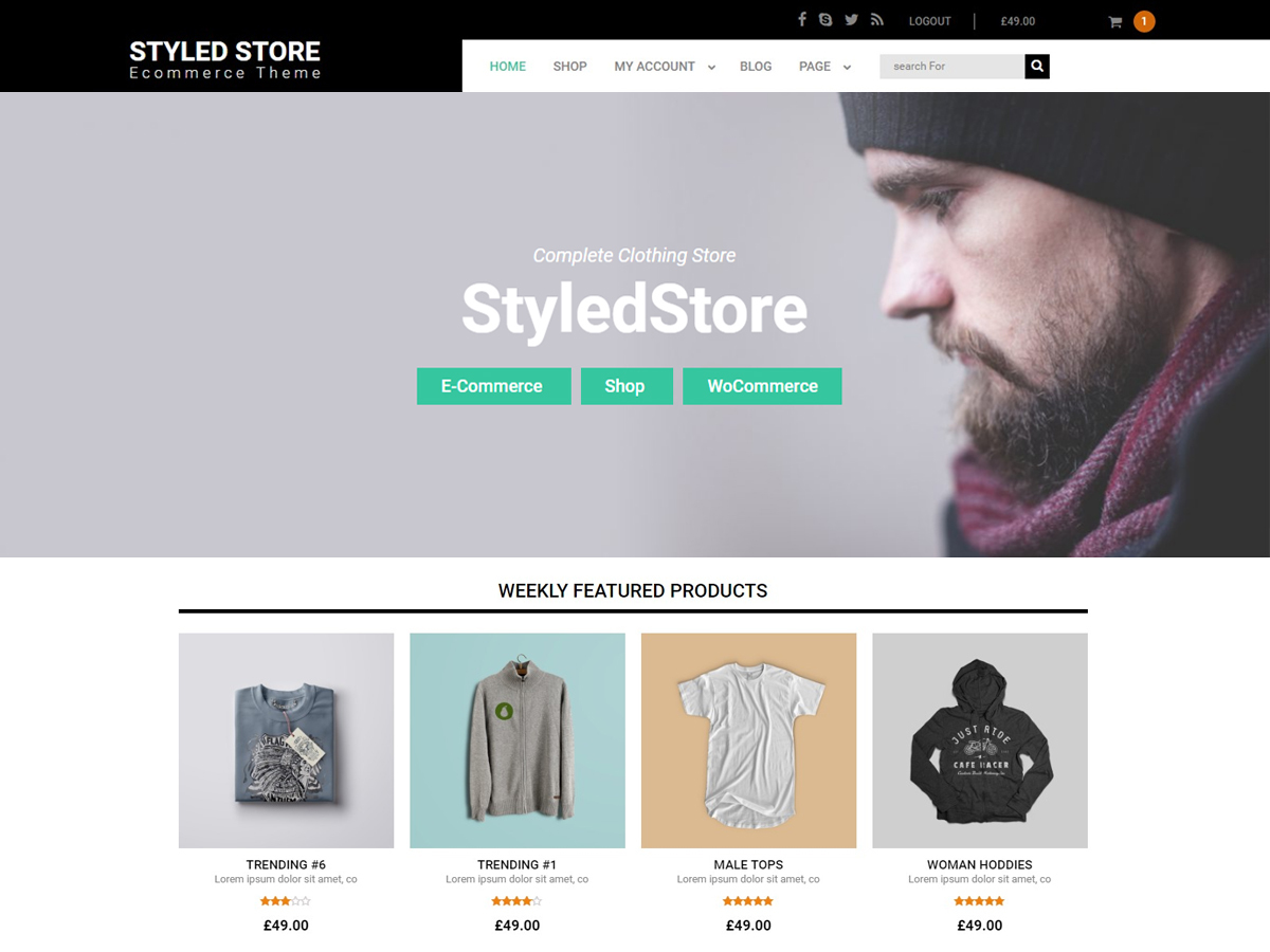 Styled Store WordPress ecommerce theme