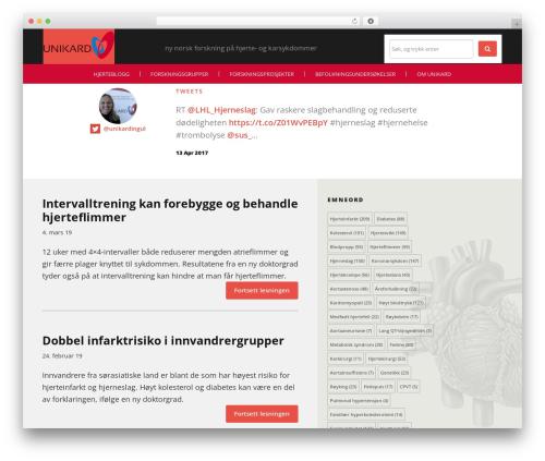 Suite theme WordPress - unikard.org