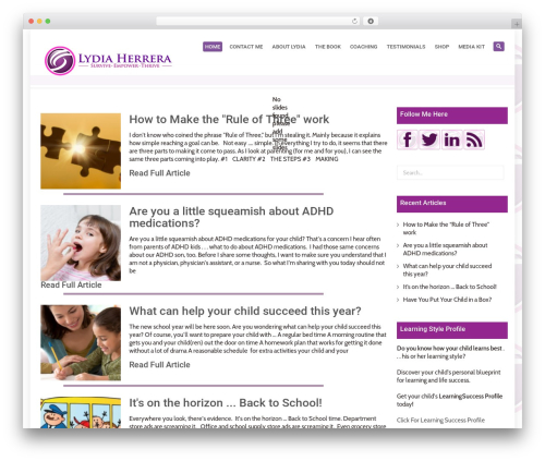 System WordPress theme - unleashyourchildssuccess.com
