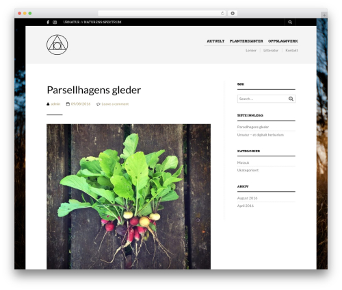 The Retailer WordPress theme - urnatur.no