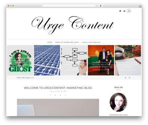 The Tea Cup WordPress blog theme - urgecontent.com