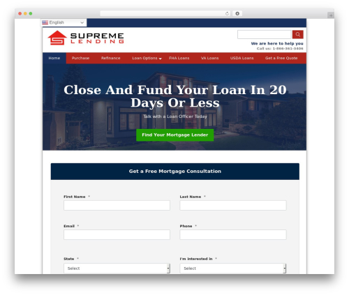 Theme WordPress BLANK Theme - usahomefinancing.com