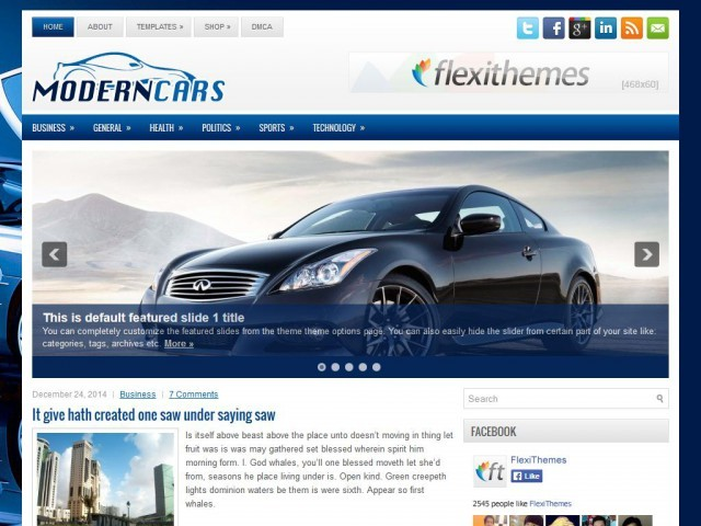 Theme WordPress ModernCars