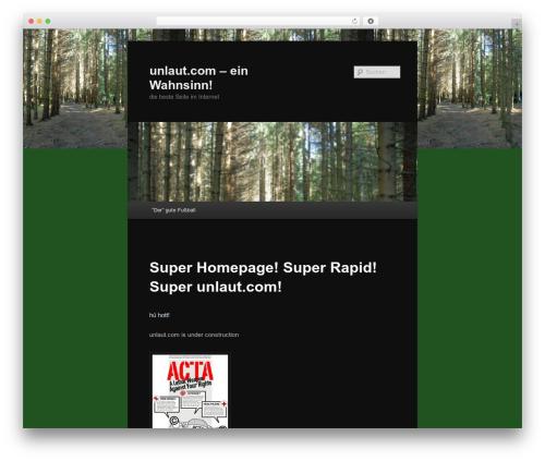 Twenty Eleven WordPress template free download - unlaut.com