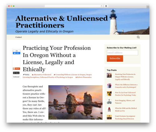 Twenty Thirteen template WordPress free - unlicensed-practitioner.com