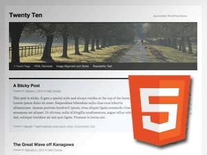 TwentyTen Five WordPress theme