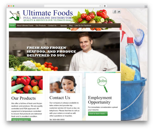 Free WordPress Theme My Login plugin - ultimatefoodsservice.com