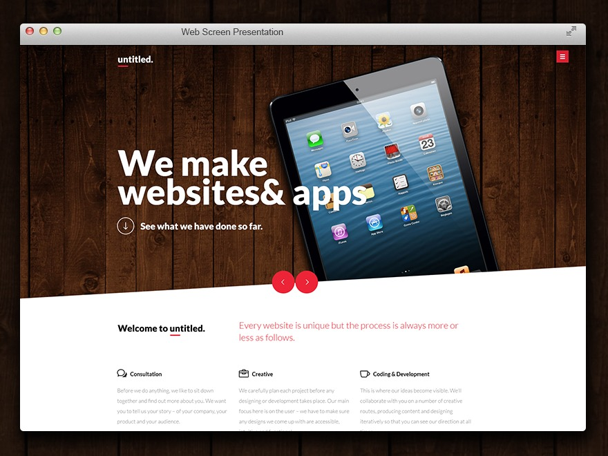 Untitled Wordpress theme WordPress page template