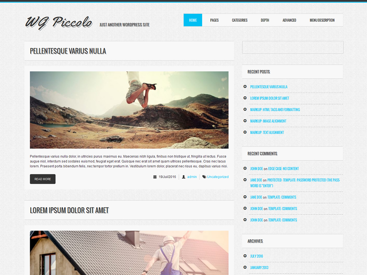 WG Piccolo WordPress theme download