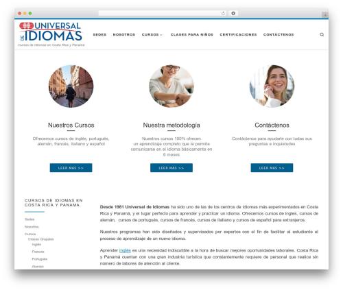 WordPress theme Customizr - universaldeidiomas.com