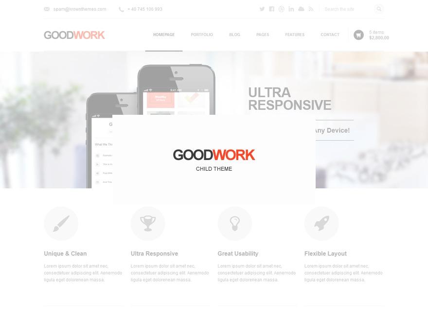 WordPress theme Goodwork Child