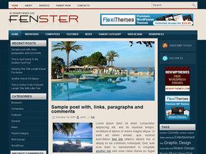 WordPress website template Fenster