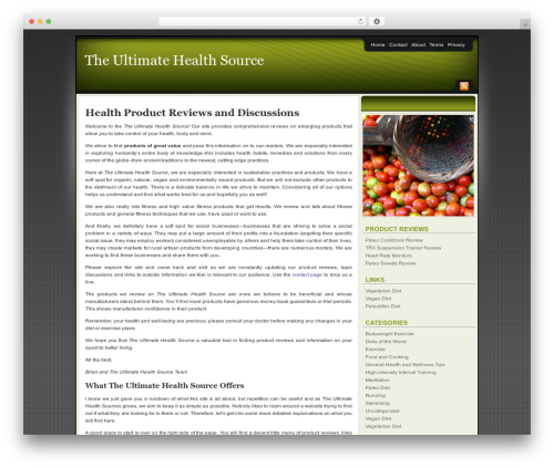 WP theme Affiliate Internet Marketing theme - ultimatehealthsource.com