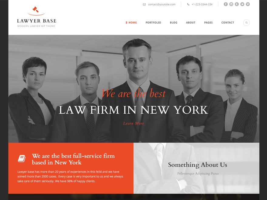 WP theme Lawyer Base