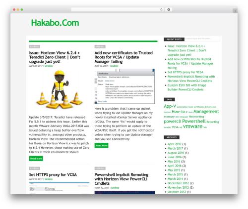 Blog Start WordPress blog theme - hakabo.com