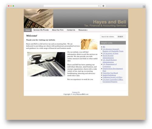 Catalyst premium WordPress theme - hayesandbell.com