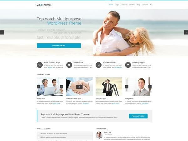 GT3 Multipurpose Responsive WordPress Theme company WordPress theme