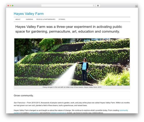 JointsWP (CSS) food WordPress theme - hayesvalleyfarm.org