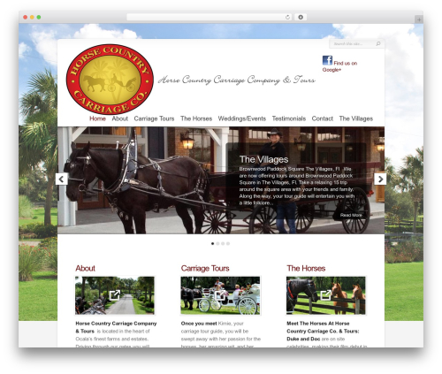 Chameleon company WordPress theme - horsecountrycarriagecompanyandtours.com