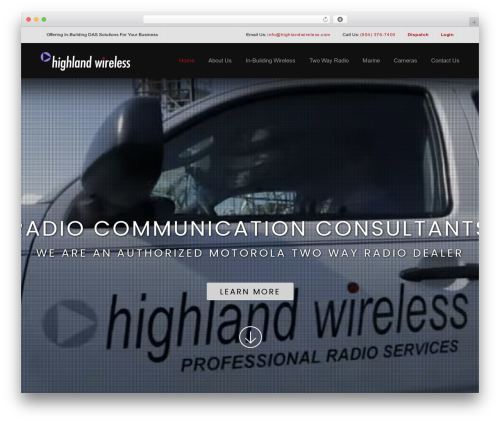 Construction best WordPress theme - highlandwireless.com