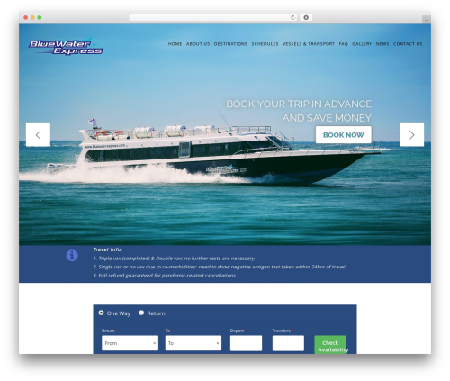 Mountain WordPress template for business - bluewater-express.com