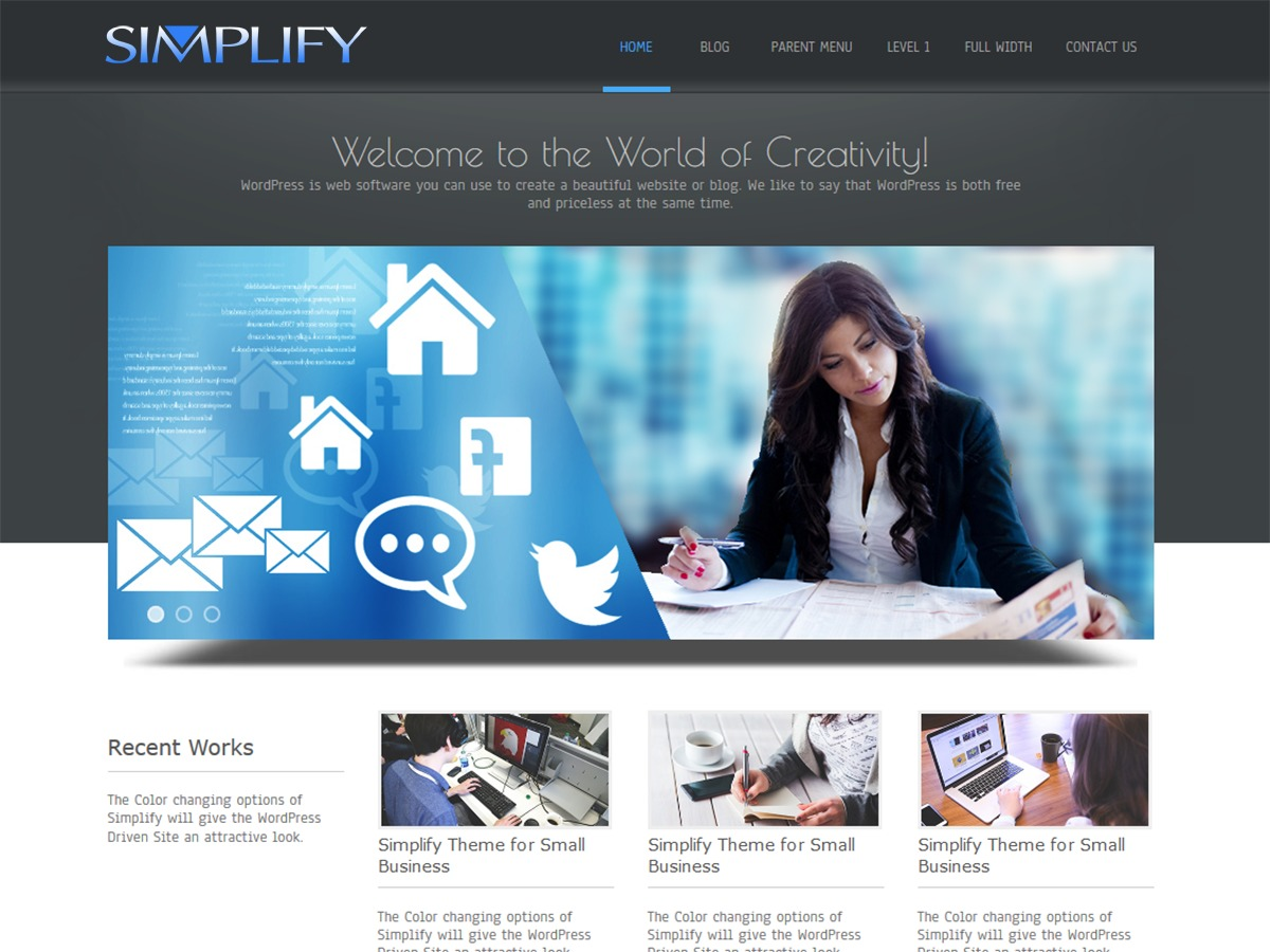 Simplify WordPress template for business