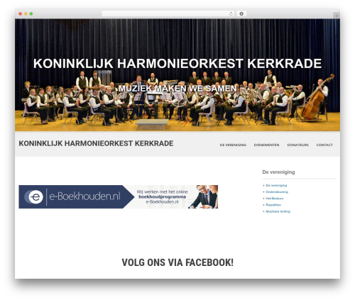 SKT White WordPress page template - harmoniekerkrade.nl