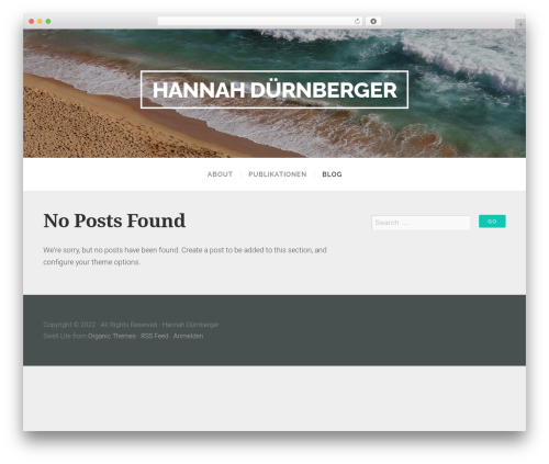 Swell Lite premium WordPress theme - hannahduernberger.de