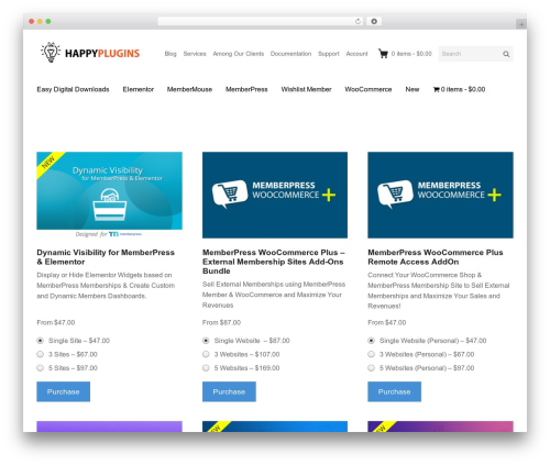 Themedd WordPress shopping theme - happyplugins.com