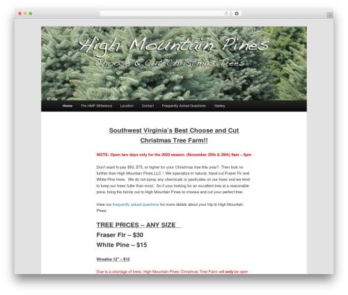 Twenty Eleven Child WordPress template - highmountainpines.com