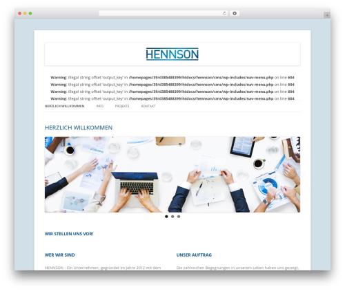 Twenty Twelve top WordPress theme - hennson.de