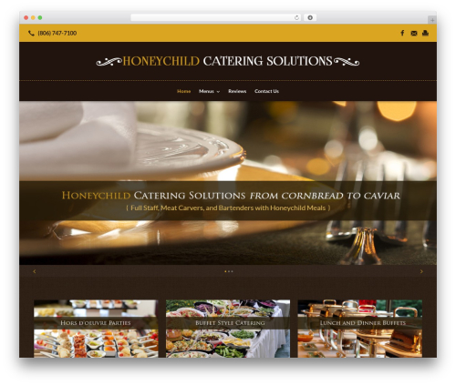 Beacon Theme WP template - honeychildcatering.com