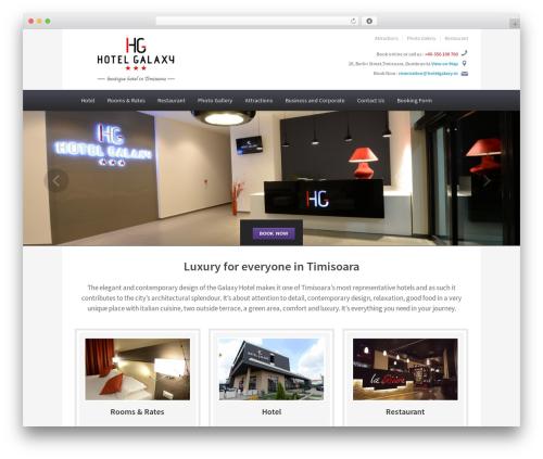 Best WordPress theme Ambassador - hotel-galaxy.ro