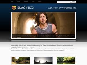 BlackBox Dark Blue WordPress theme