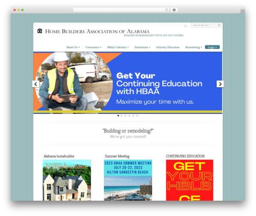 Chameleon WordPress theme - hbaa.org
